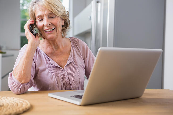 Older woman at her computer