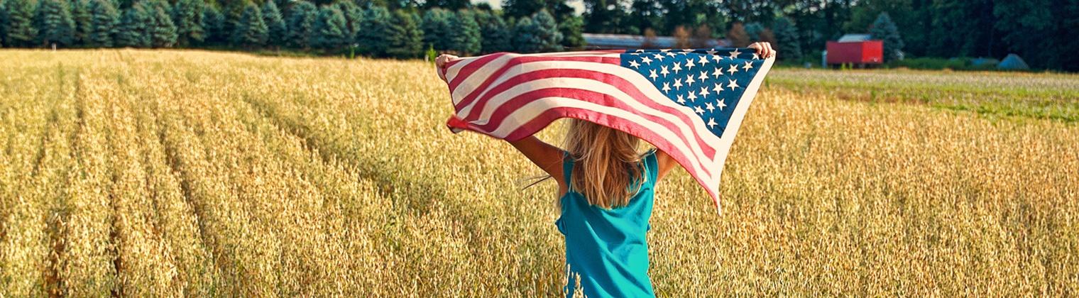 Girl in wheatfield