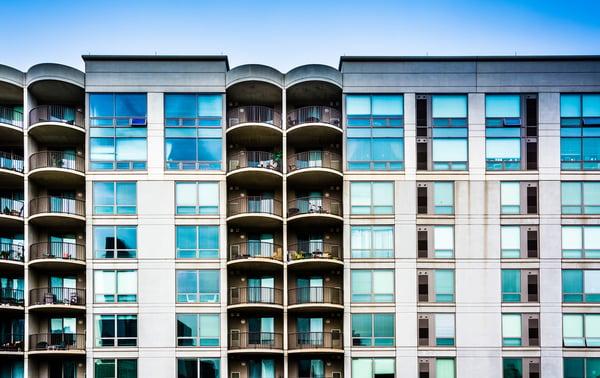 Apartment building in Philadelphia, Pennsylvania.-1